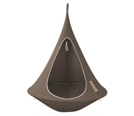 Cacoon Kinderhangstoel tent Single 1-persoons taupe bruin 150x150cm