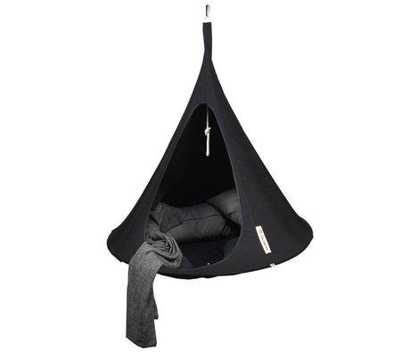 Cacoon Kinderhangstoel tent Single 1-persoons zwart 150x150cm