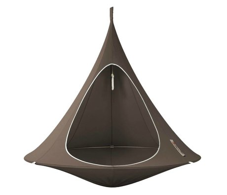 Cacoon Children Hangstoel tent Double 2 seater taupe brown 180x150cm