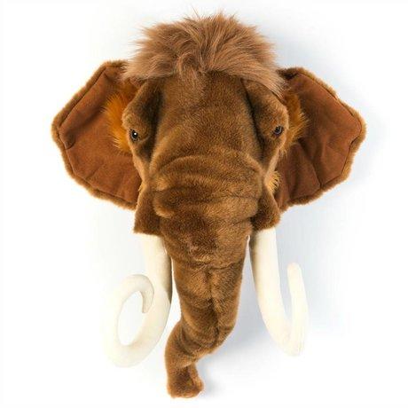 Wild & Soft Dierenkop mammoet Arthur bruin 24x50x56