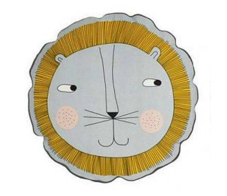 OYOY Kids Leo Cushion gray cotton 50cm