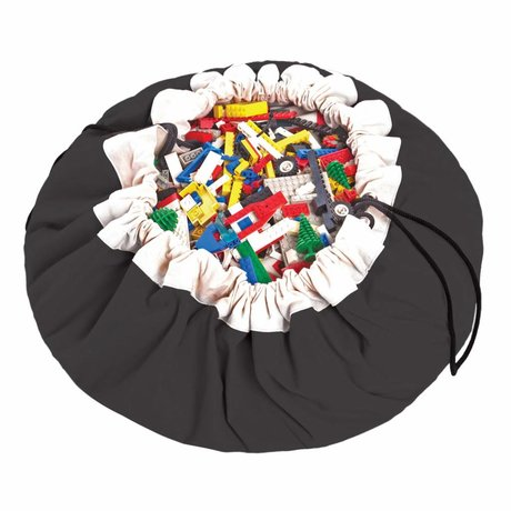 Play & Go Storage bag / playmat Classic Black black cotton ø140cm