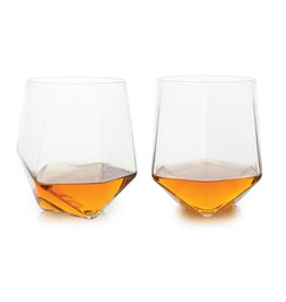 Viski Seneca™ Faceted Crystal Tumblers (Set of 2) by Viski