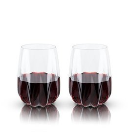 Viski Raye™ Cactus Crystal Wine Glass (Set of 2) by Viski