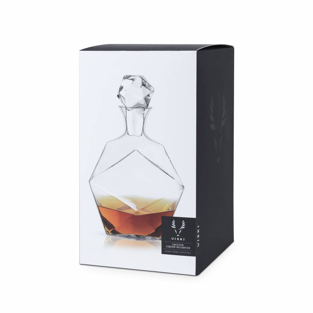 Viski Seneca™ Faceted Crystal Liquor Decanter by Viski