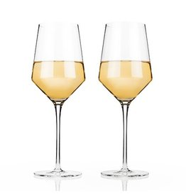 Viski Raye™ Crystal Chardonnay Glasses (Set of 2) by Viski