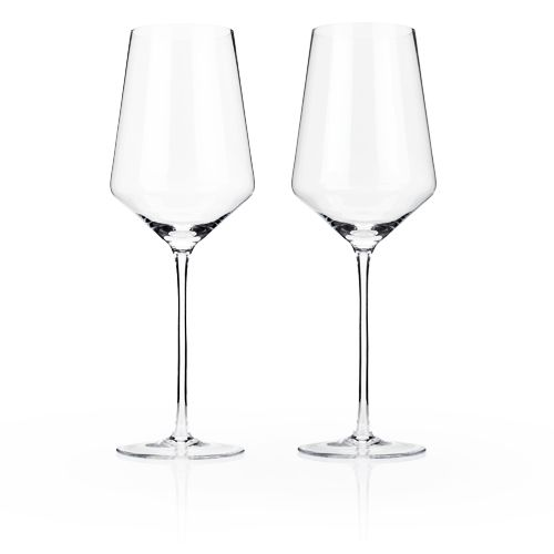 Viski Raye™ Crystal Bordeaux Glasses (Set of 2) by Viski