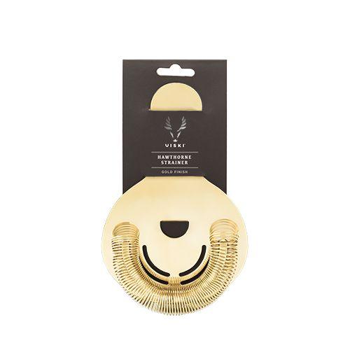 Viski Belmont™ Gold Hawthorne Strainer by Viski
