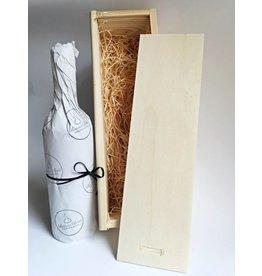 1-vaks houten kist, schuifdeksel