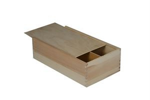 wooden giftbox for 2 bottles