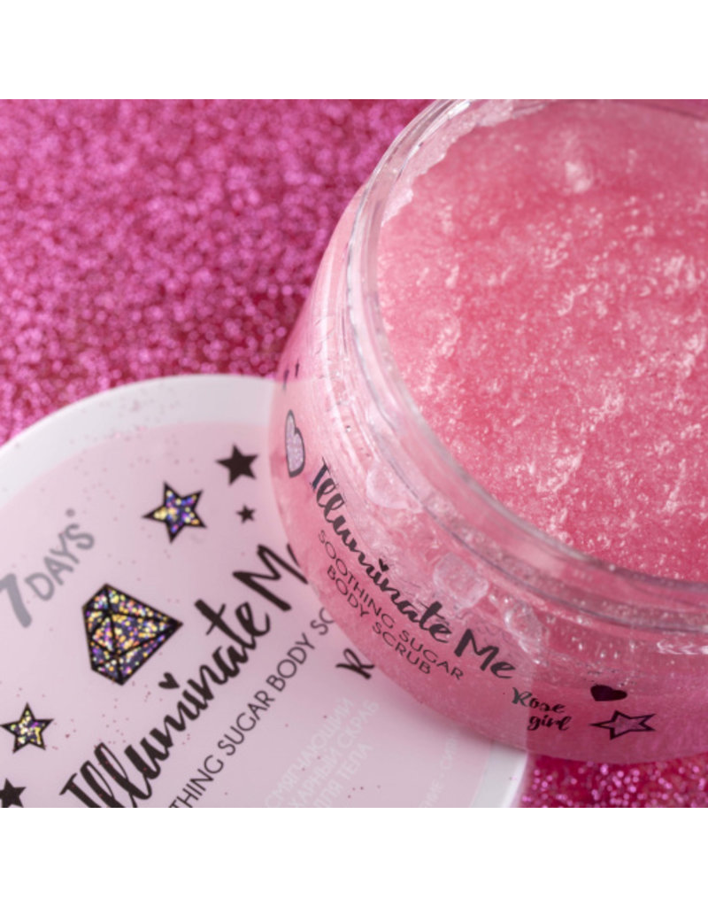 7DAYS Illuminate Me Rose Girl Sugar Body Scrub 220gr