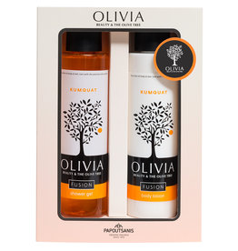 Olivia Shower Gel 300ml & Body Lotion Kumquat 300ml