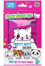 7DAYS Funny Beauty Set (4 tissue gezichtsmaskers met dierenprint)