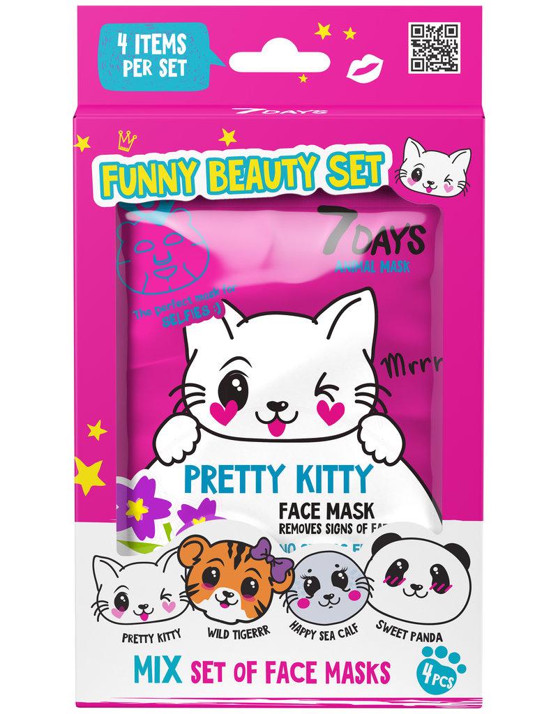 7DAYS 7DAYS Pretty Kitty Beauty Set (4 face masks)
