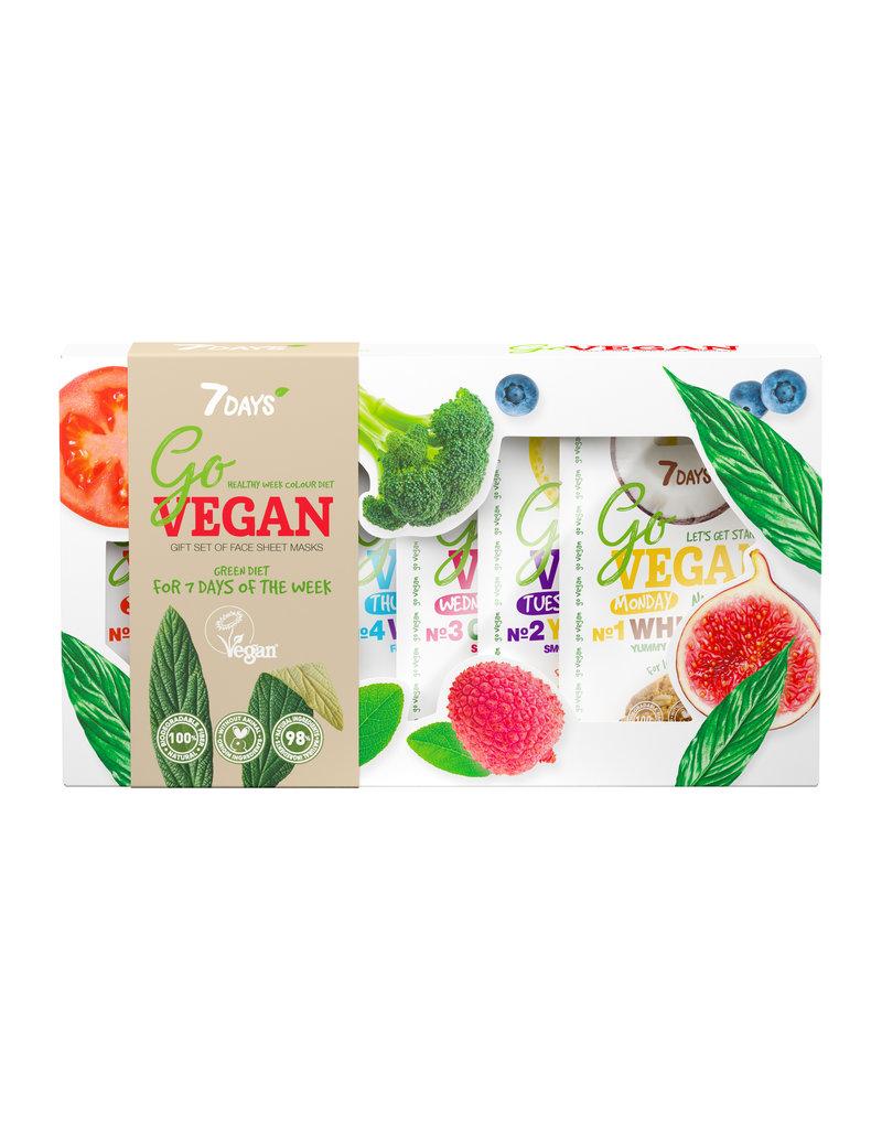 7DAYS Go Vegan Beauty Calender (7 Face Sheet Masks)