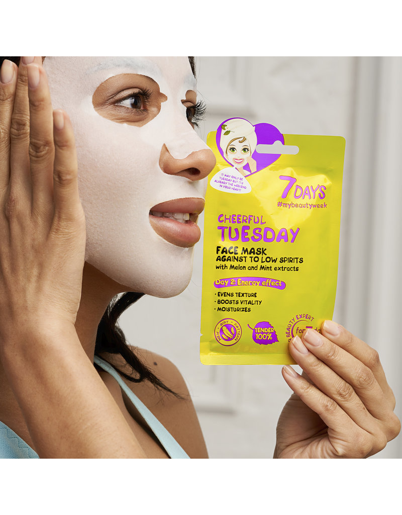 7DAYS Cheerful Tuesday Face Sheet Mask 28gr.