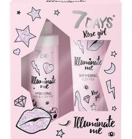 7DAYS Illuminate Me Rose Girl Gift Set
