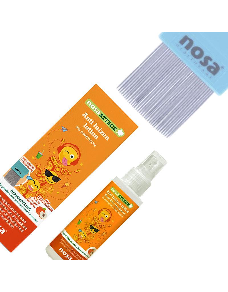 Nosa Attack Anti-Luizen Lotion & Protect Tea Tree Spray Perzik