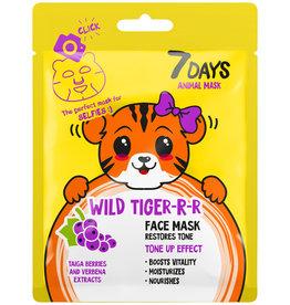 7DAYS Wild Tiger Face Mask