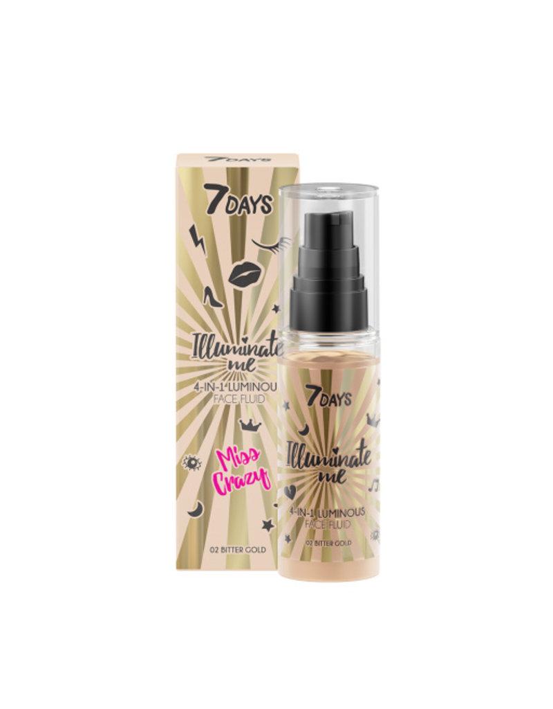 7DAYS 7DAYS Illuminate Me Miss Crazy 4 in 1 Illuminating Face Fluid (Shade 01 Champagne) 50ml