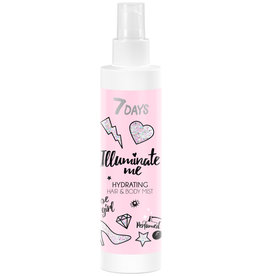 7DAYS Illuminate Me Rose Girl Hair & Body Mist