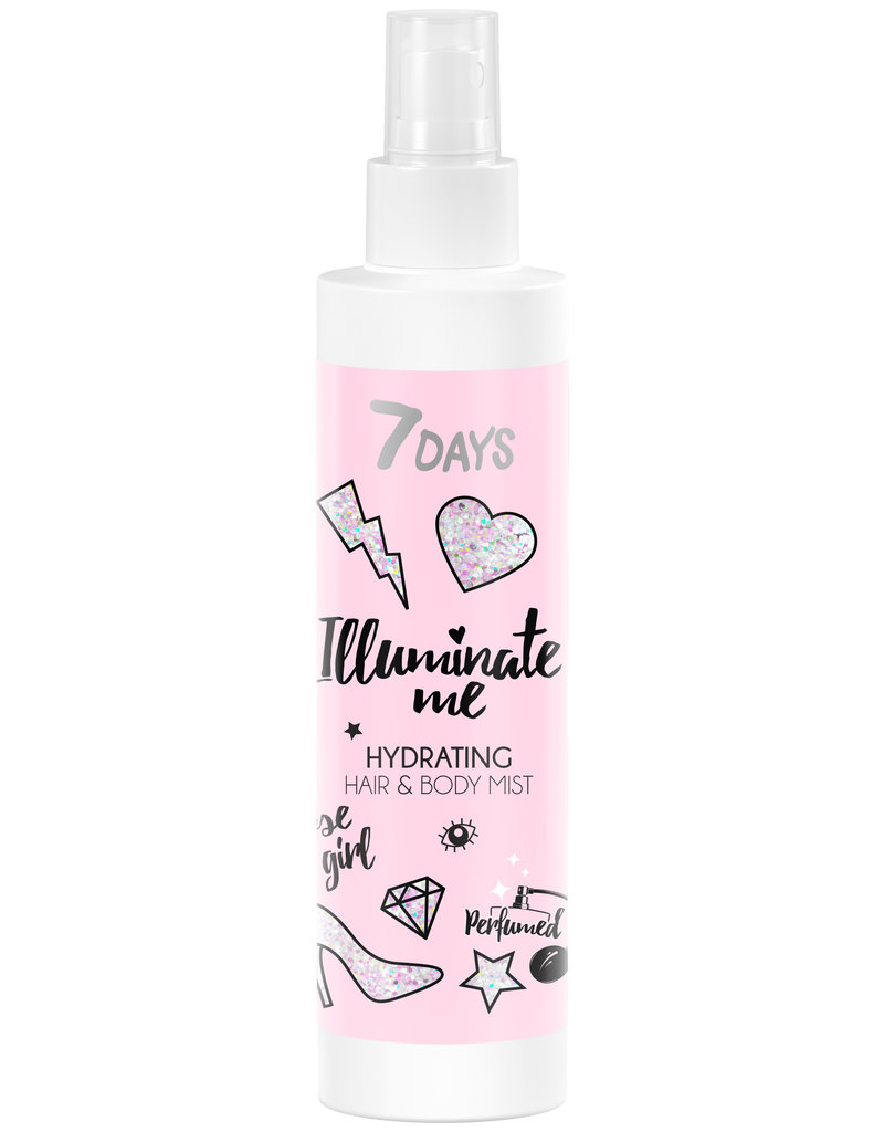 7DAYS Illuminate Me Rose Girl Hydrating Hair & Body Mist 150ml