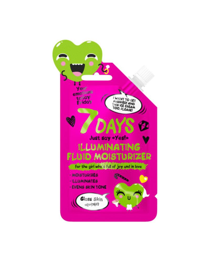 7DAYS 7 DAYS Your Emotions Today Friday Illuminating Fluid Moisturizer 25 g