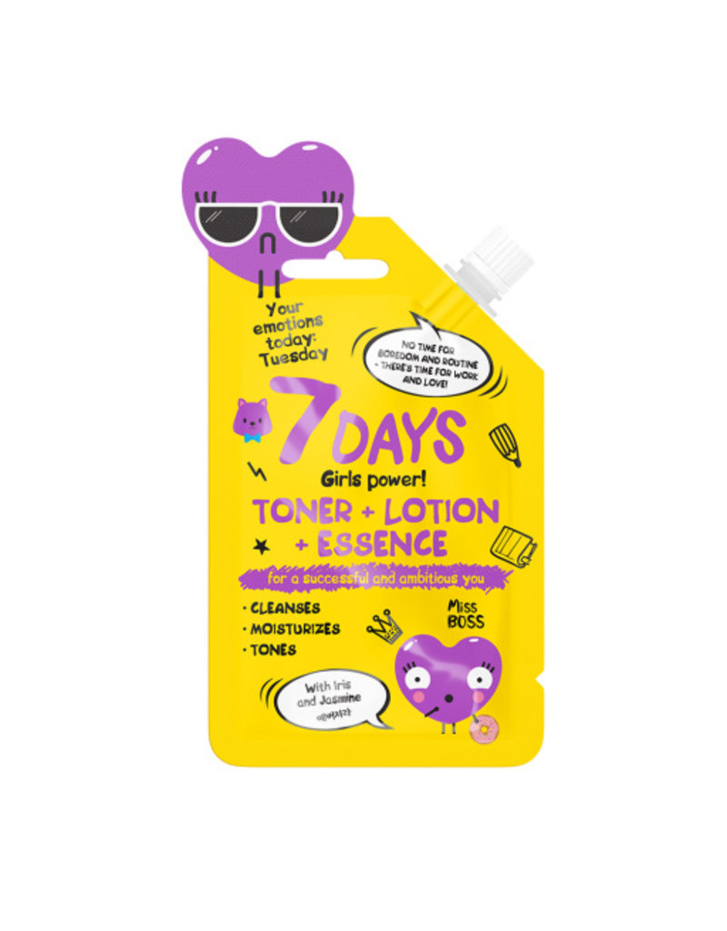 7DAYS Your Emotions Today Toner+Lotion+Essence  20 gr