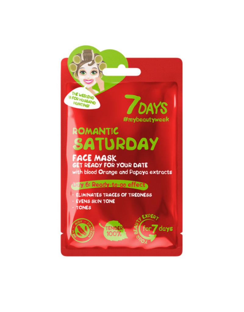 7DAYS Romantic Saturday Face Sheet Mask 28gr