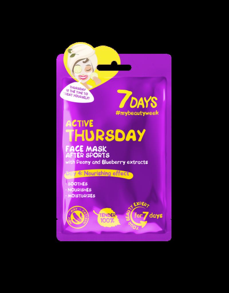 7DAYS Active Thursday Sheet Face Mask 28gr