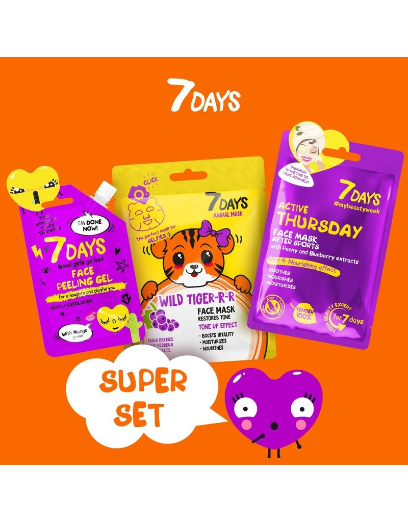 7DAYS Thursday Super Set (3 Face Masks)