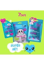 7DAYS Saturday Super Set (3 Face Masks)     - Copy