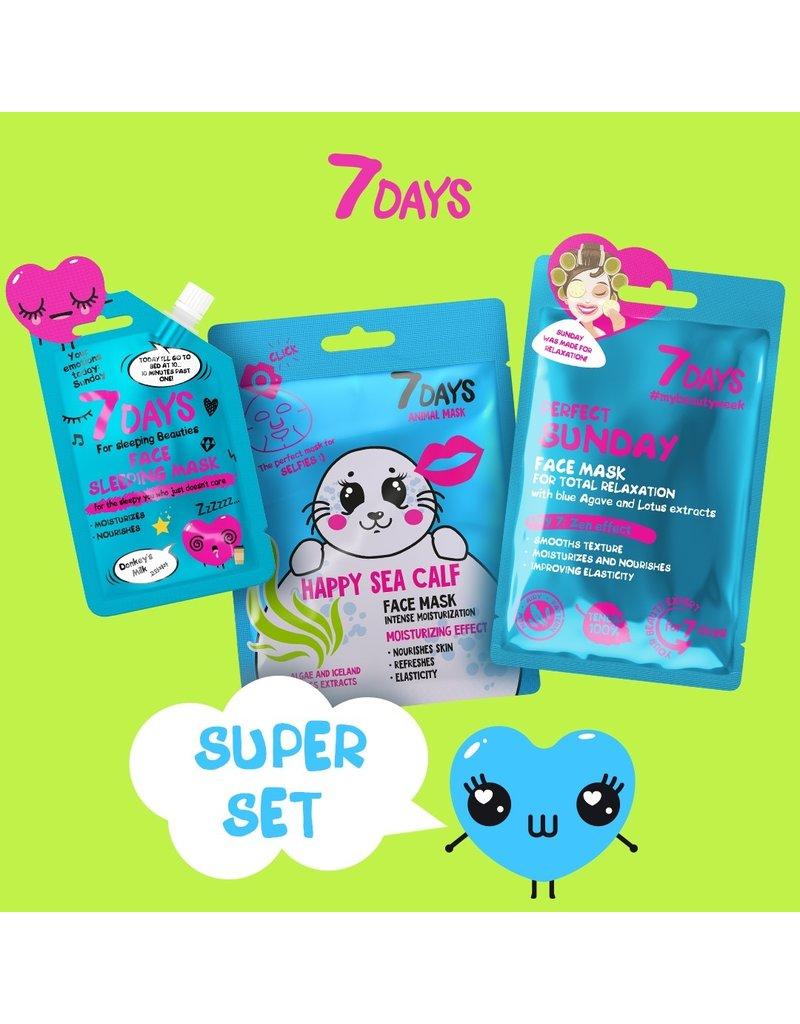 7DAYS Sunday Super Set (3 Face Masks)