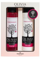 Olivia Fusion Shower Gel 300ml & Body Lotion Pomegranate 300ml