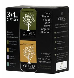 Olivia Gift Set Natuurlijke Zeep (3+1 gratis)