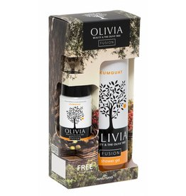 Olivia Shower Gel 300ml & GRATIS Body Lotion Kumquat 50ml