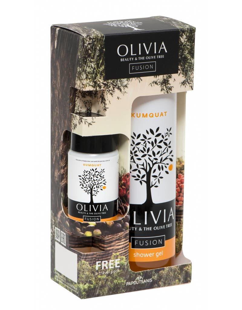 Olivia Fusion Gift Set Shower Gel 300ml & GRATIS Body Lotion Kumquat 50ml