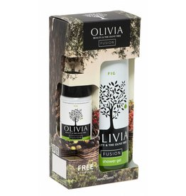 Olivia Fusion Set Shower Gel 300ml & GRATIS Body Lotion Fig 50ml