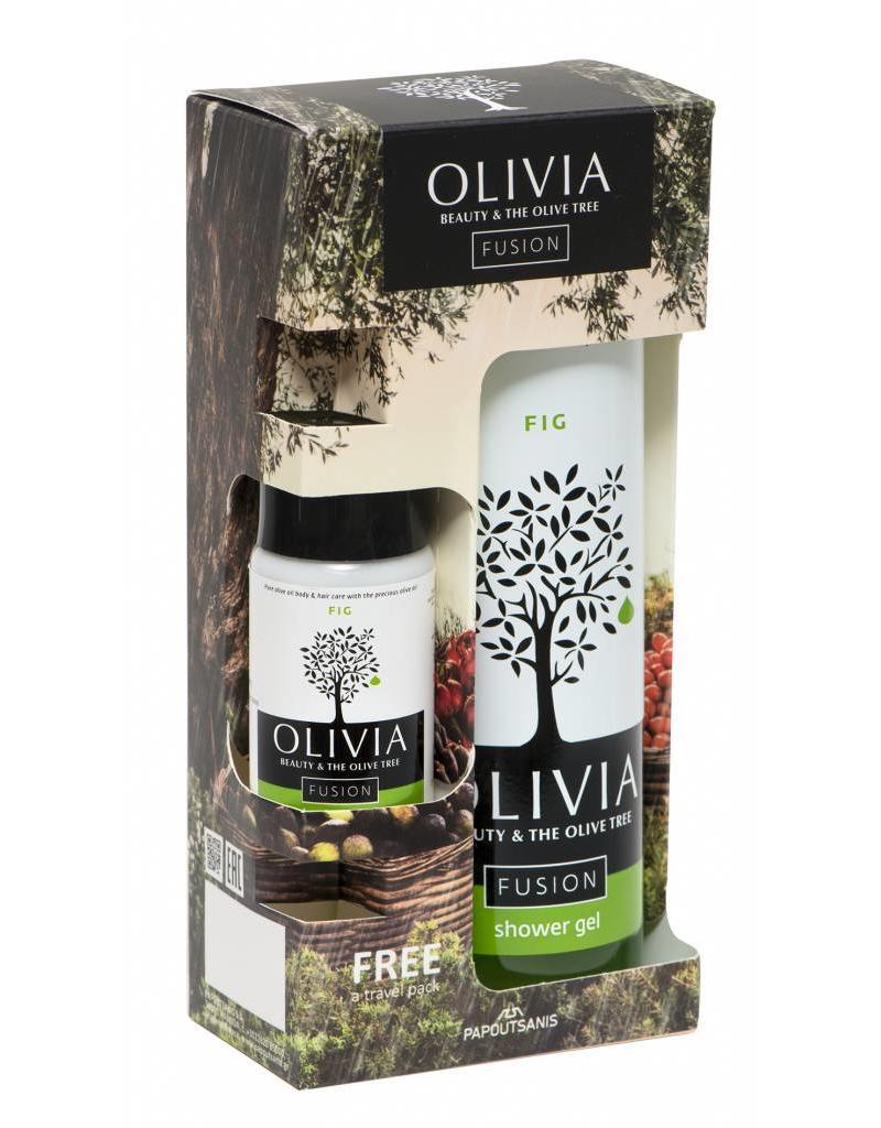 Olivia Set Shower Gel 300ml & GRATIS Body Lotion Fig 50ml