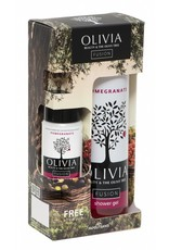 Olivia Fusion Gift Set Shower Gel 300ml & GRATIS Body Lotion Pomegranate 50ml