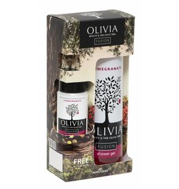 Olivia Shower Gel 300ml & GRATIS Body Lotion Pomegranate 50ml