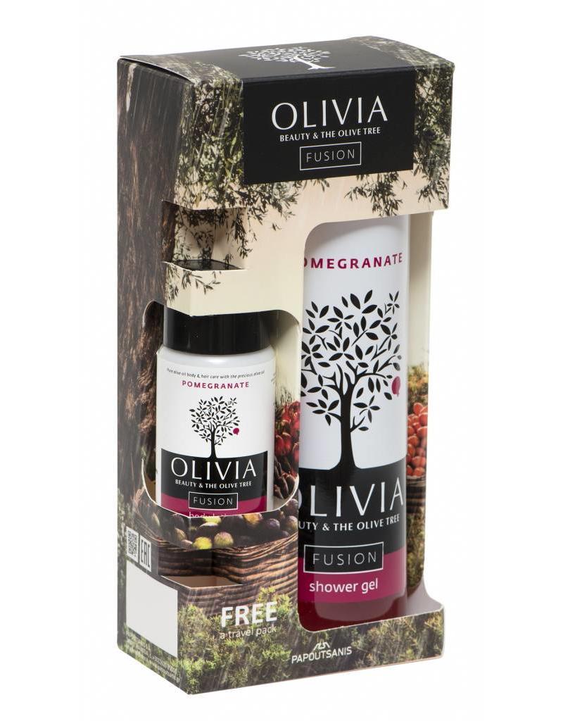 Olivia Shower Gel 300ml & GRATIS Body Lotion Pomegranate 50ml