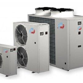 Watergekoelde airconditioning met buiten unit