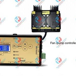 OptiClimate Ventilator / pompcontroller ingesteld voor OptiClimate Chiller