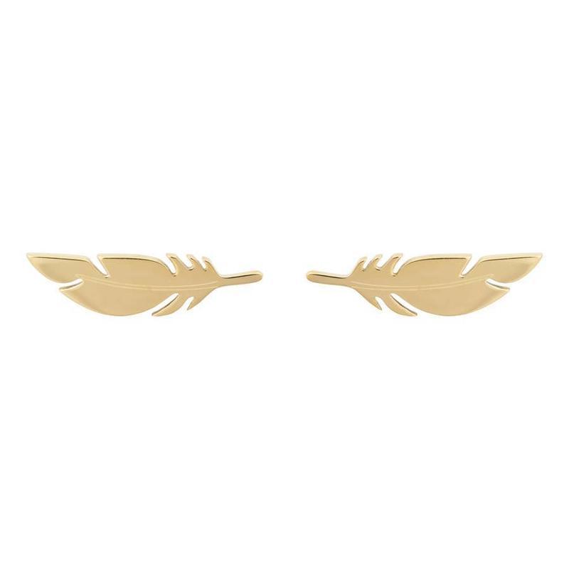 ZAG Bijoux  ZAG veer- feather oorbel gold goud