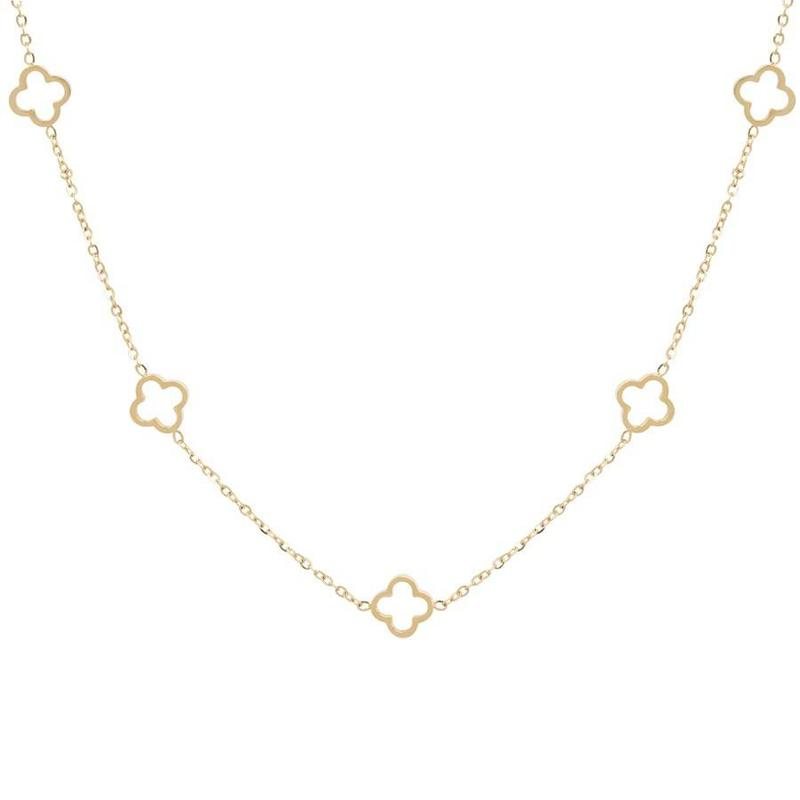 ZAG Bijoux jewellery ZAG ketting  luck allover gold