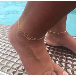 ZAG Bijoux jewellery  ZAG bijoux dubbel gold klaver enkelbandje