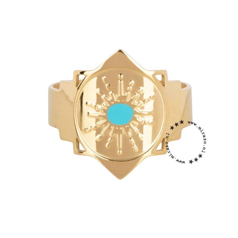 ZAG Bijoux  ZAG  Bijoux ring  Bali aqua goud