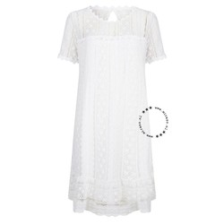 ibiza short lace dress white
