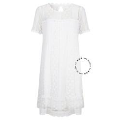 ibiza short lace dress white